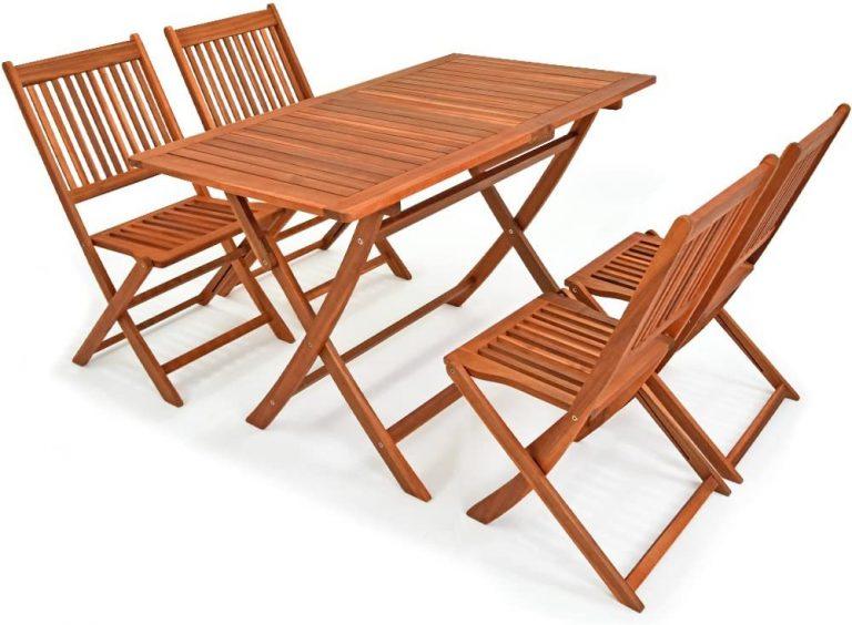 Conjunto de Muebles de Madera de Acacia