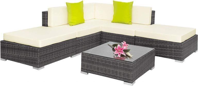 Conjunto de Muebles de Ratán, Set Modular Asientos y Mesa