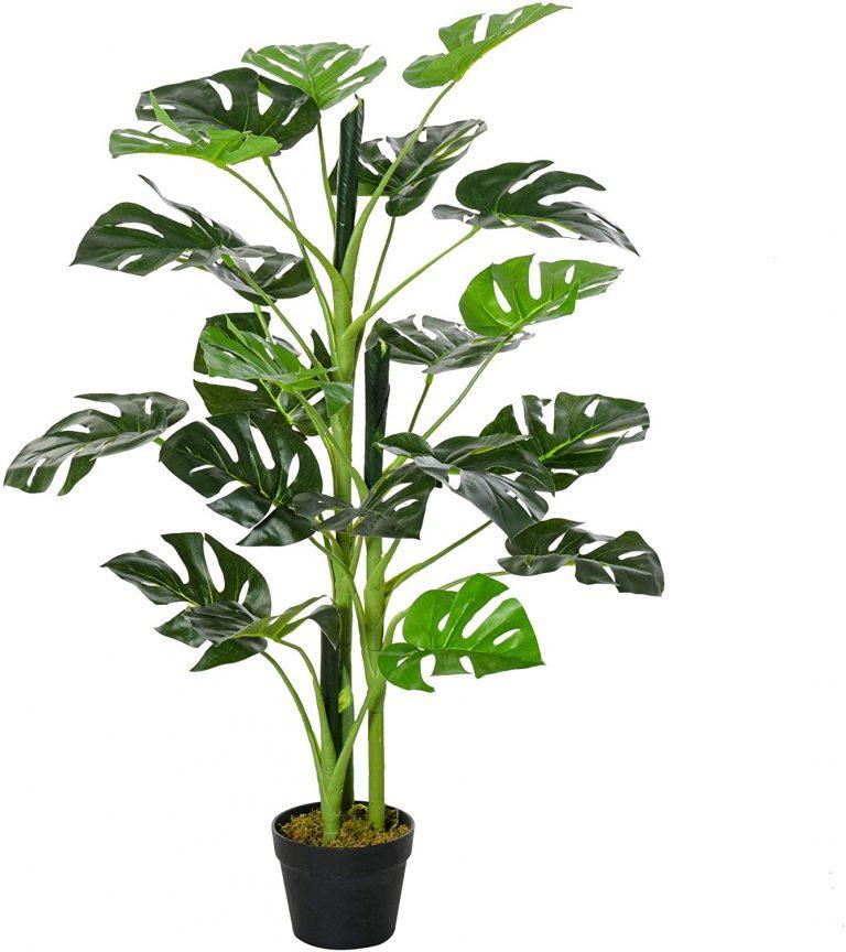 Outsunny Planta Artificial Monstera con Maceta