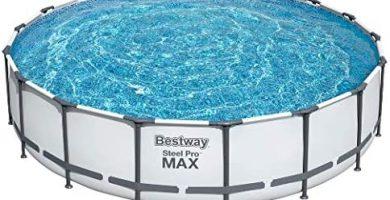 BESTWAY 56462 - Piscina Desmontable Tubular Steel Pro Max 549x122 cm Depuradora de cartucho de 5.678 litros/hora