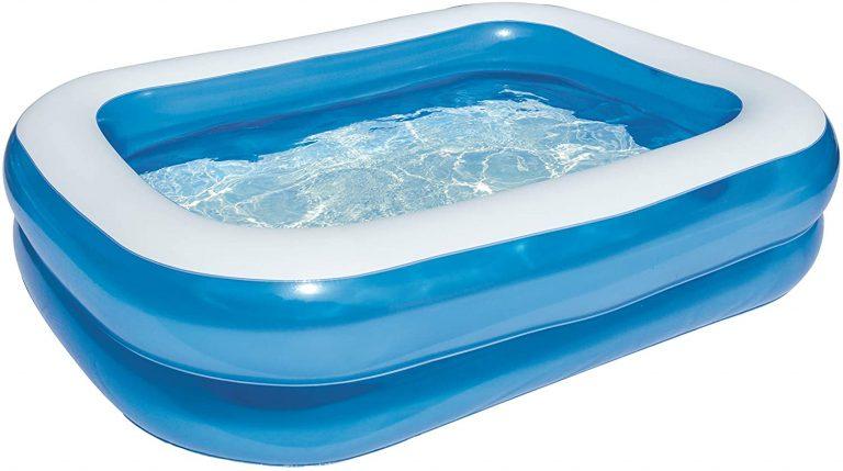 Bestway 54005 - Piscina Hinchable Infantil Blue Rectangular 201x150x51 cm