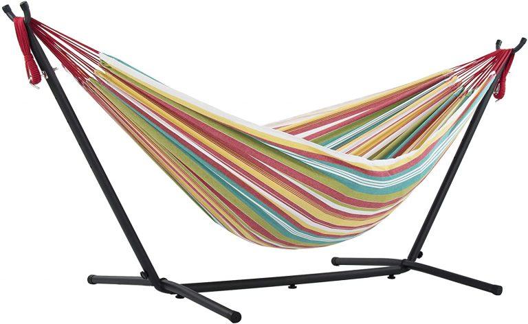 Hamaca con soporte incluido, multicolor, 250 cm