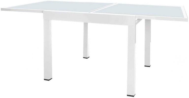 Mesa terraza Extensible Aluminio Blanco Garden -