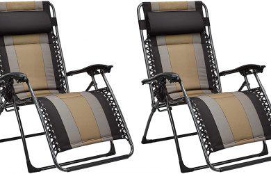 Set de 2 sillas acolchadas con gravedad cero