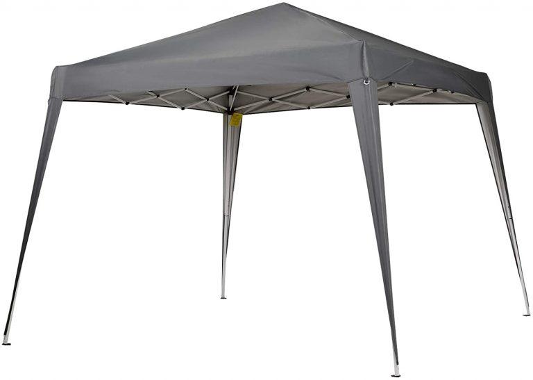 3x3m Cenador de Jardín Diseño Pop Up de Acero y Cubierta de Tela Oxford Gris