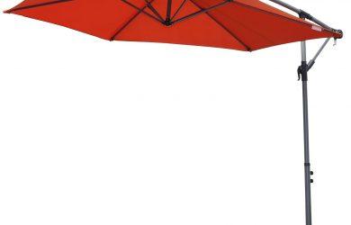 Angel Living 3M Parasol Excéntrico Sombrilla Voladiza con Manivela para Patio