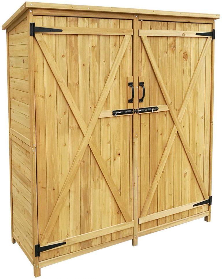Armario de jardín con 2 puertas 1350x500x1540mm cobertizo