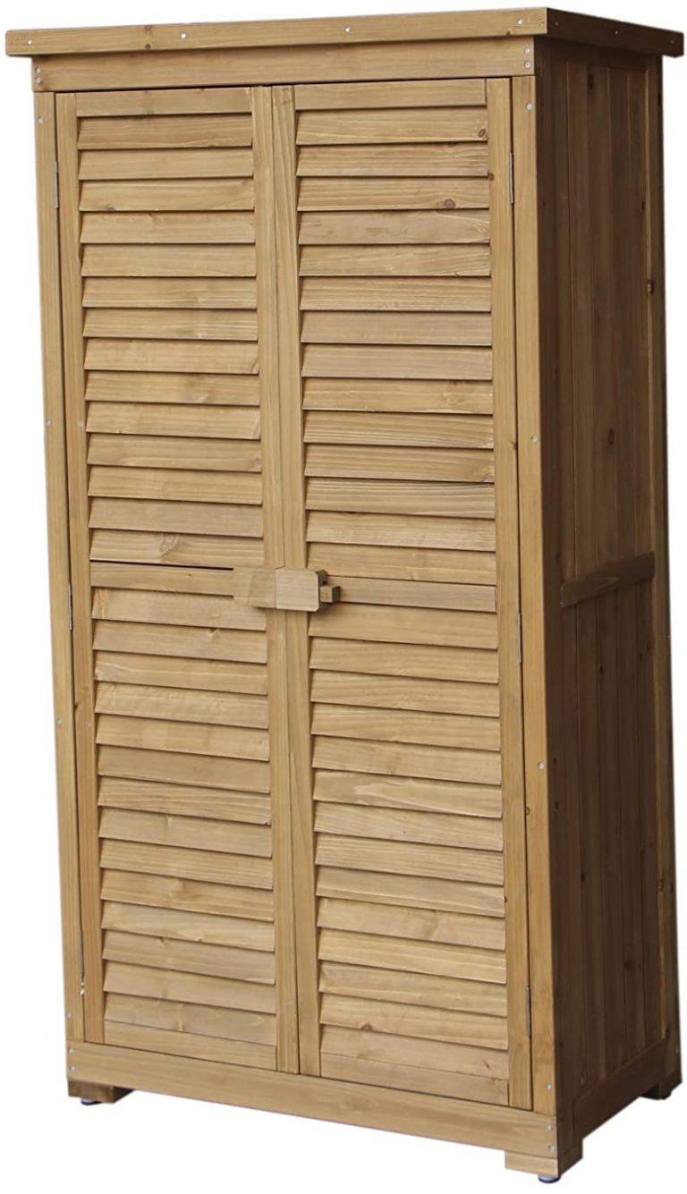 Caseta Armario Emmy 87x46,5x160 cm Madera para Exterior