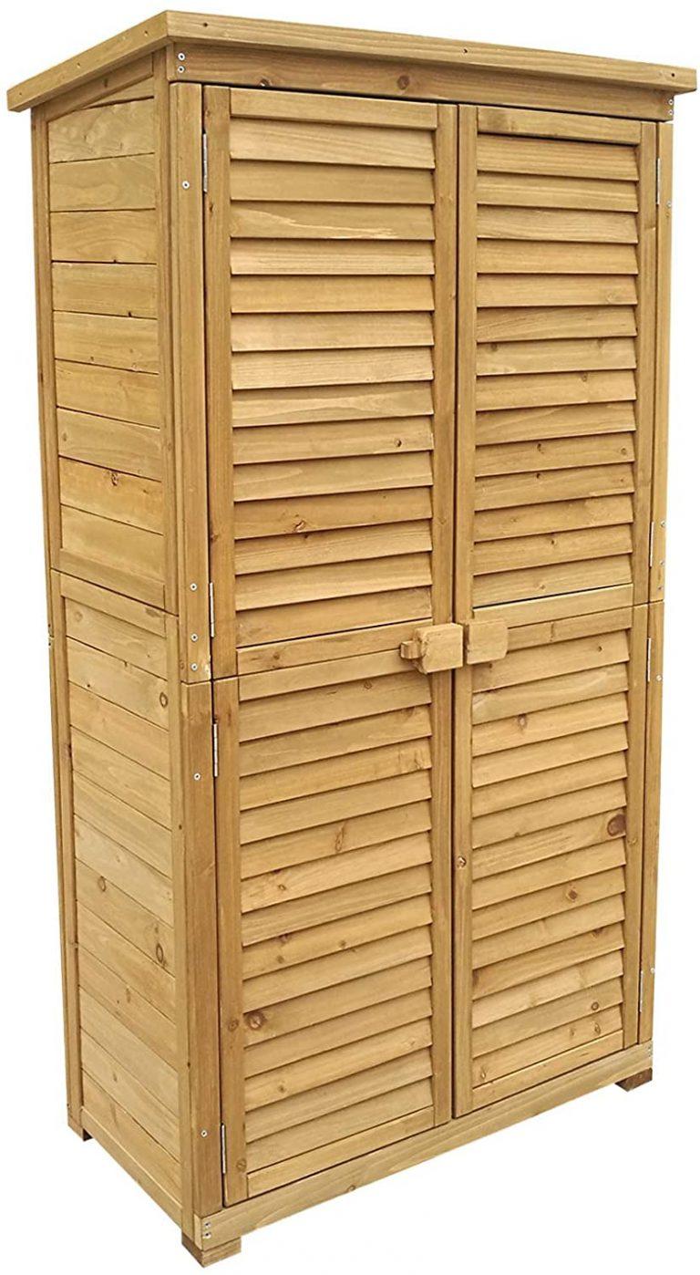Caseta de jardín 870x465x1600mm con puerta laminada