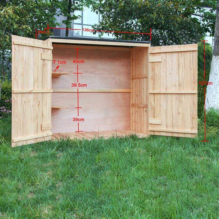 Caseta de jardín Madera Doble puerta Caseta para herramientas y aperos