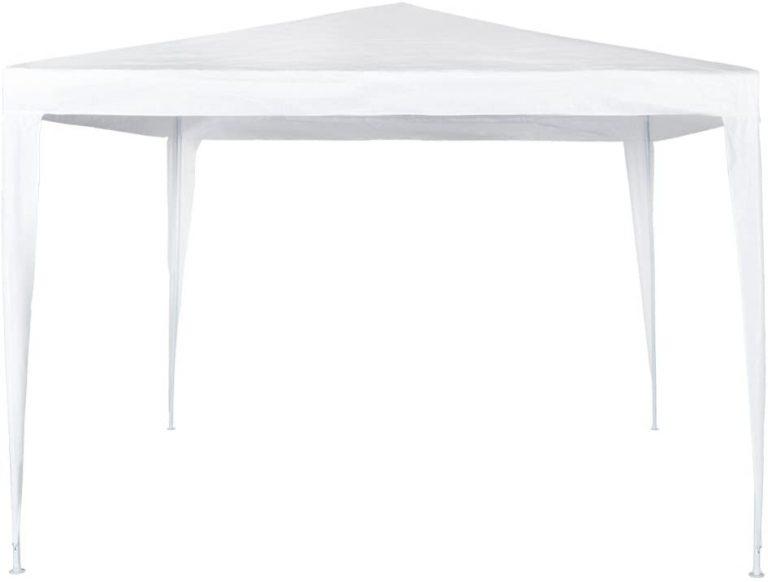 Cenador de 300 x 300 x 250 cm, plástico, color blanco