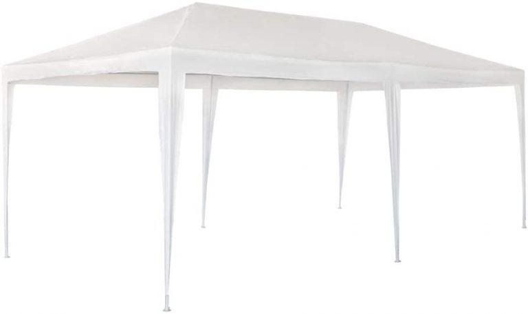 Cenador de Plástico Blanco 300 x 600 x 255 cm con Tubos de Acero