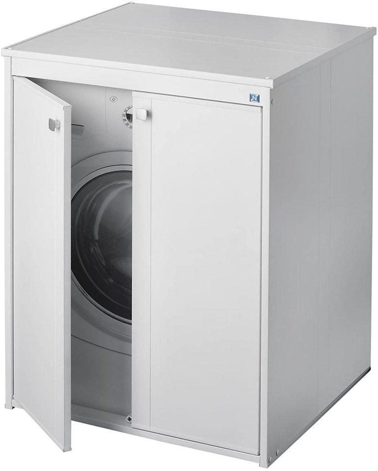 Coprilavatrice 5012p móvil en resina al aire libre, blanco, 70 x 60 x 94 cm