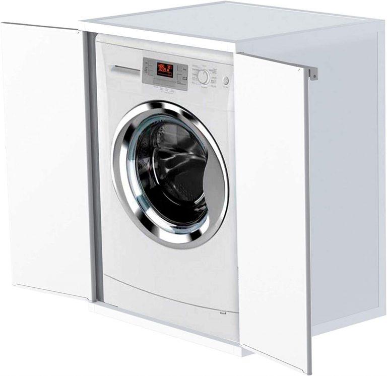 Funda para lavadora de resina de PVC (uso interior exterior), color blanco, 68 x 66 x 88 cm