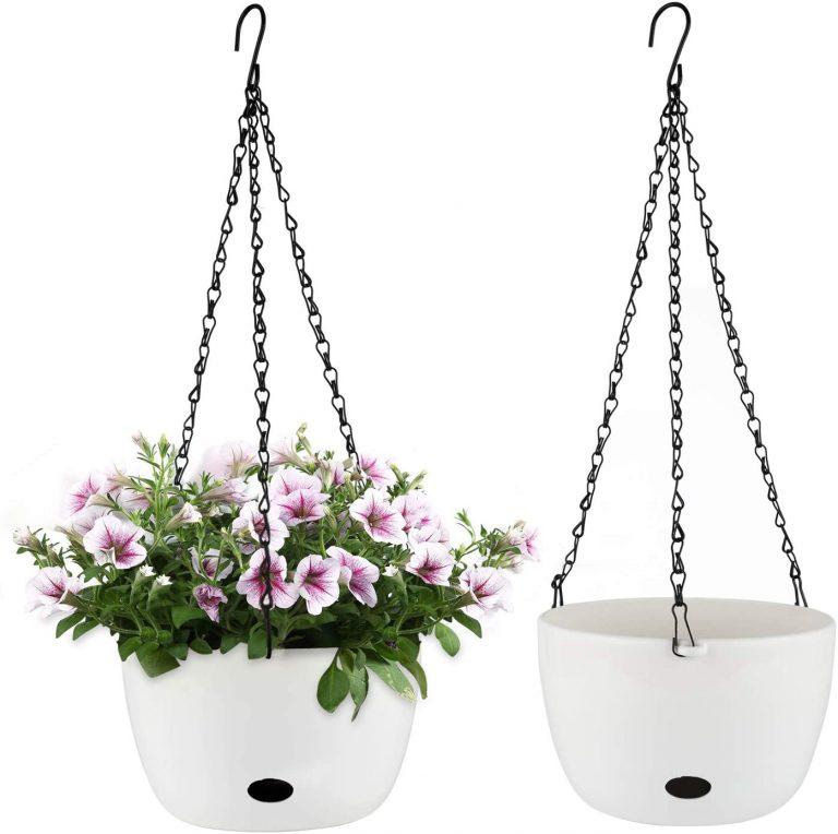 Jardinera Colgante de Riego Automático con Orificio de Riego