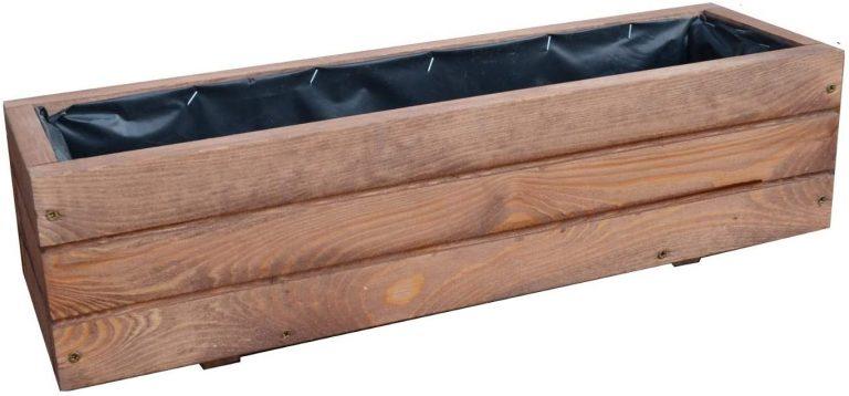 Jardinera de acero madera Top Macetero Jardín Terraza montado D6 noga