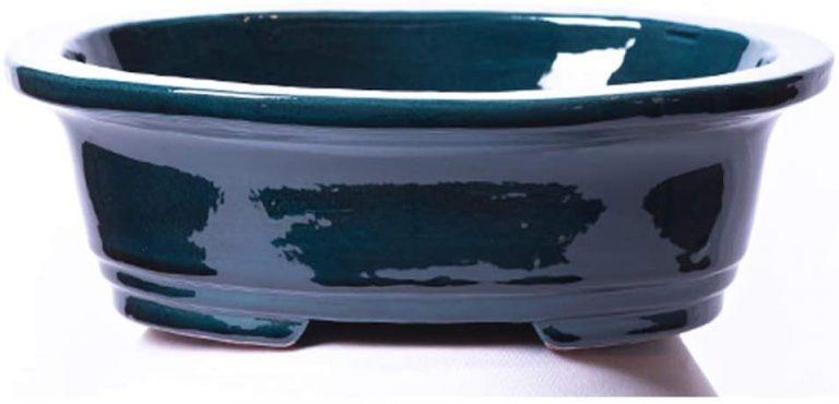Maceta para Bonsai DE Barro Y ESMALTADA EN Color Azul RABEL
