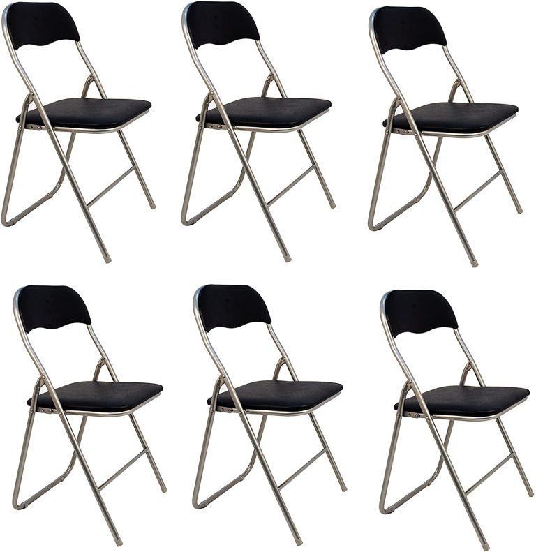 Pack 6 Sillas plegables de aluminio con asiento y respaldo