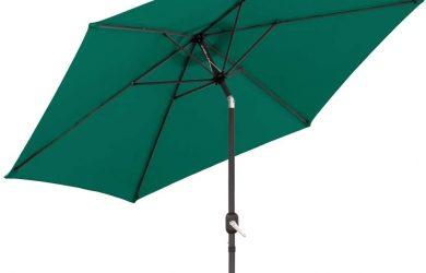 Parasol sombrilla Verde Aluminio clásico de 300 cm