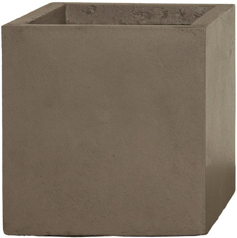 Pflanzwerk® Maceta Cube Chocolate 23x23x23cm