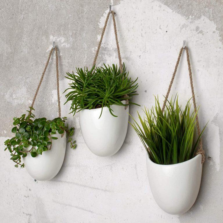 Set de 3 floreros de cerámica