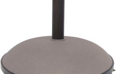 Soporte parasol cemento con ruedas circular