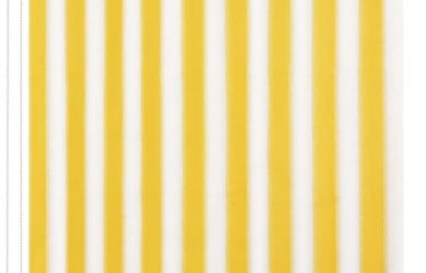 Toldo Vertical para Balcón, Patio, Porche o Pérgola A Rayas Amarilla y Blanca