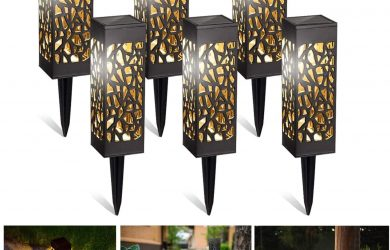 6x Lámpara solar LED para jardín