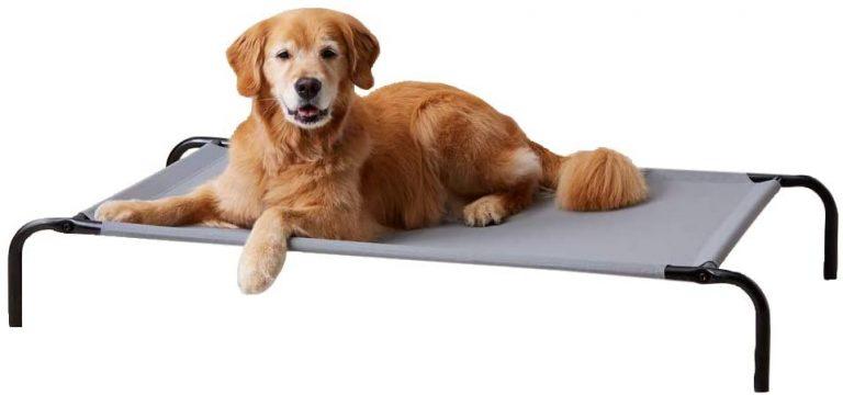 Cama elevada transpirable para mascotas, grande ( 130 x 80 x 19 cm)