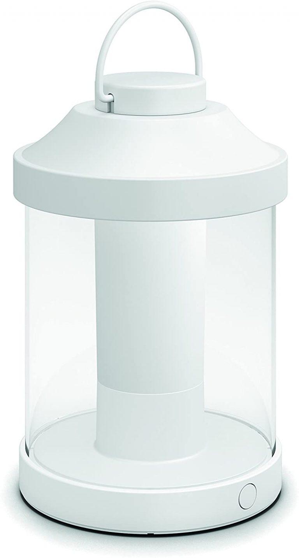 Farol LED Portátil blanco, luz regulable y recargable mediante USB,