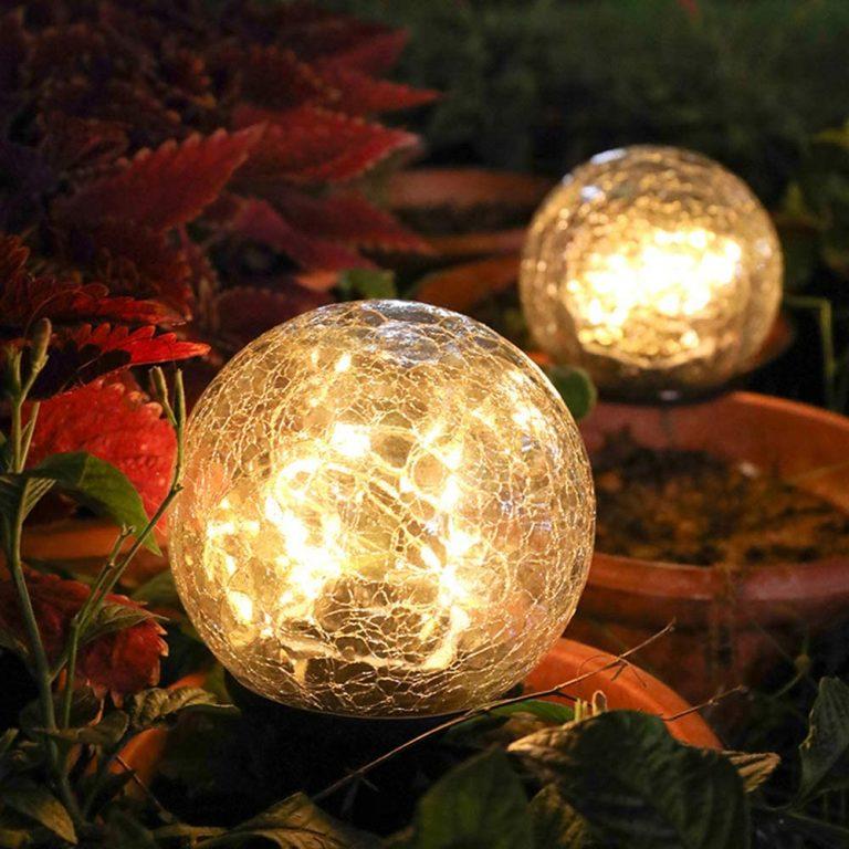 Lámpara solar de bola de cristal de grieta