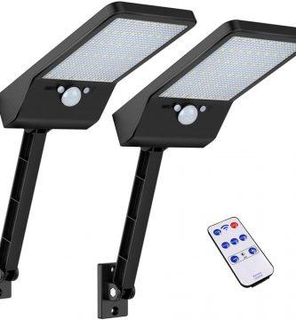Luces solares al aire libre, Super brillante 48 LEDs, IP65 impermeable con control remoto