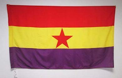 Bandera ESPAÑA Republicana Estrella ROJA 150x90cm