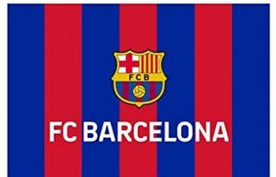 Bandera Vertical Grande FC. Barcelona - Medidas 150 x 100 cm. - Polyester 100%