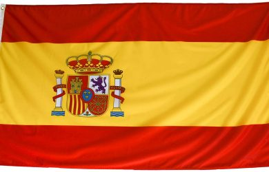 Bandera de España de Tela Fuerte