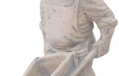 Escultura gnomo de jardín Figura Estatua Piedra Artificial Estilo Antiguo