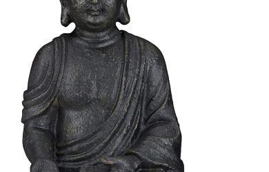 Estatua Buda Sentado para Jardín, Resina Sintética
