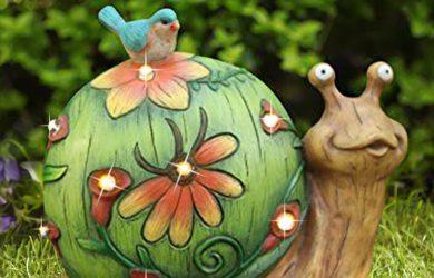 Figura decorativa de caracol solar