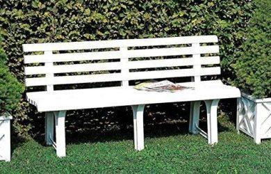 Banco Jardin Resina Blanco 145x49 cm.