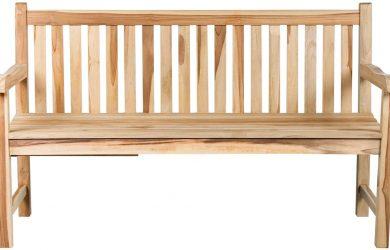 Banco de tres asientos de madera de teca