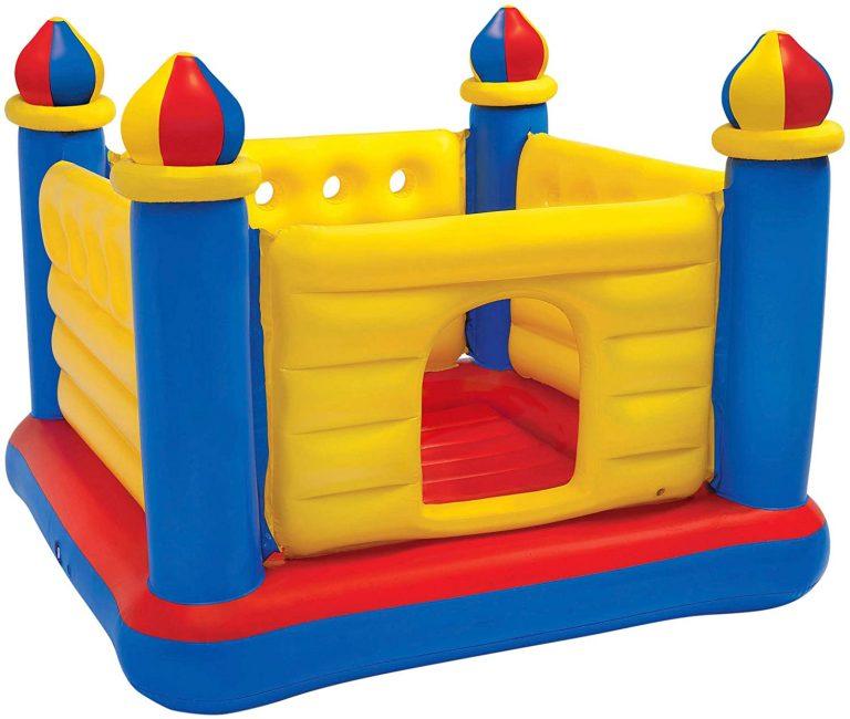 Castillo hinchable , 175x175x135 cm, suelo hinchable, Para 2 niños,