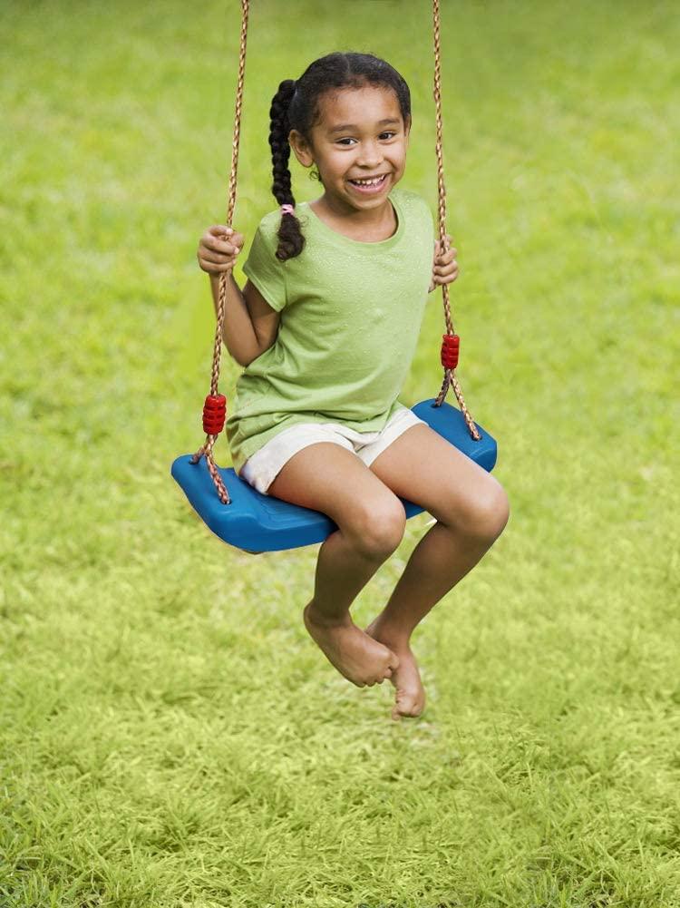 Columpio Infantil, Columpios de Plástico Columpio de Jardín para Niños con Cuerda Ajustable