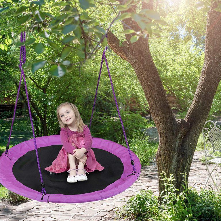 Columpio Jardín Nido de Altura Ajustable para Niños y Adultos