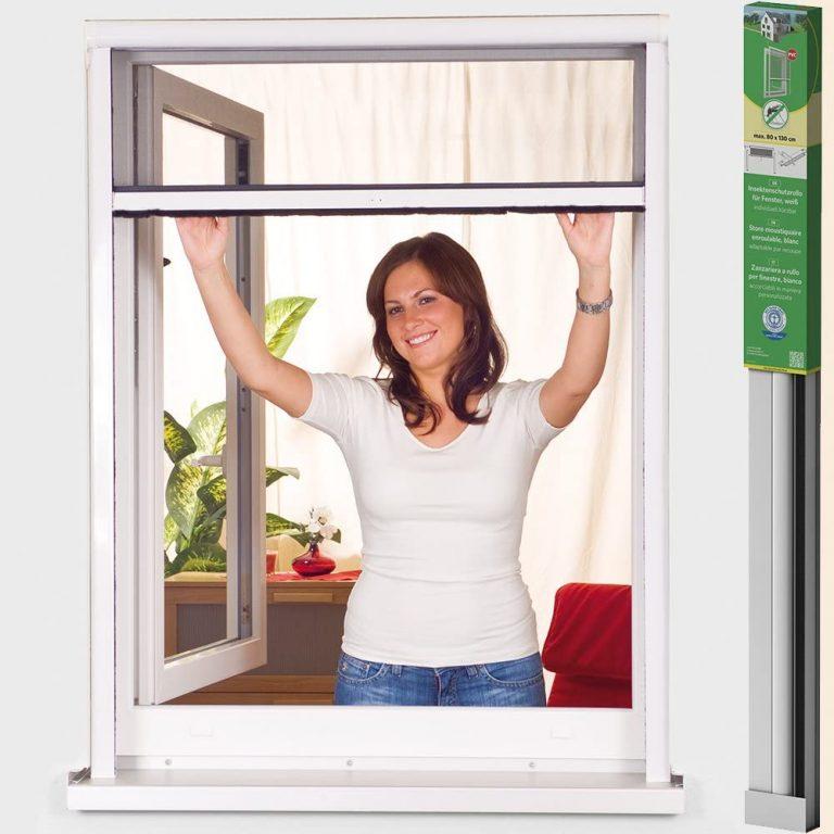 Mosquitera enrollable de PVC Easy Life Greenline Basic, para ventanas,