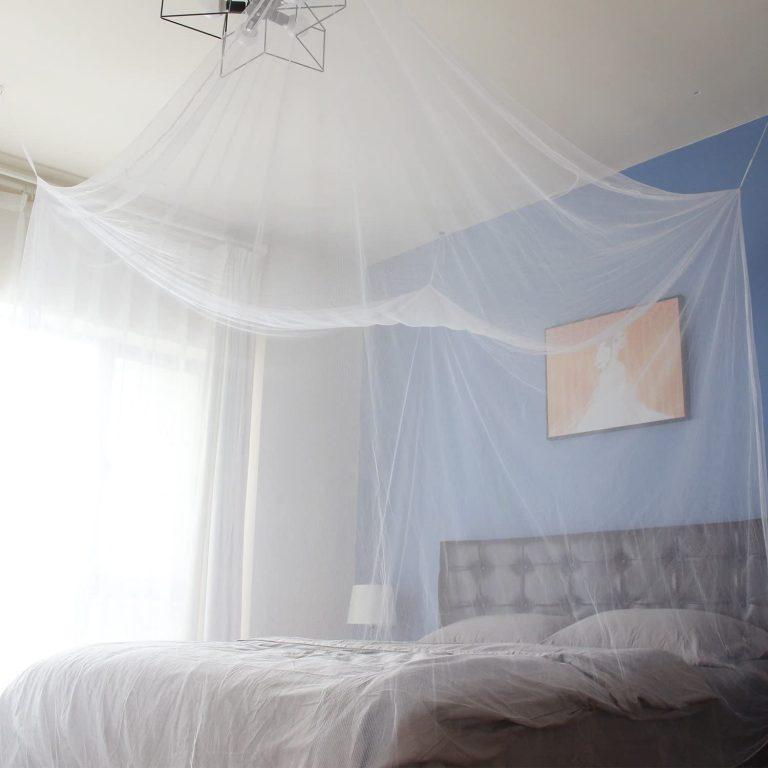 Sekey 220x200x200 cm Mosquitera para cama doble con Kit de colocación