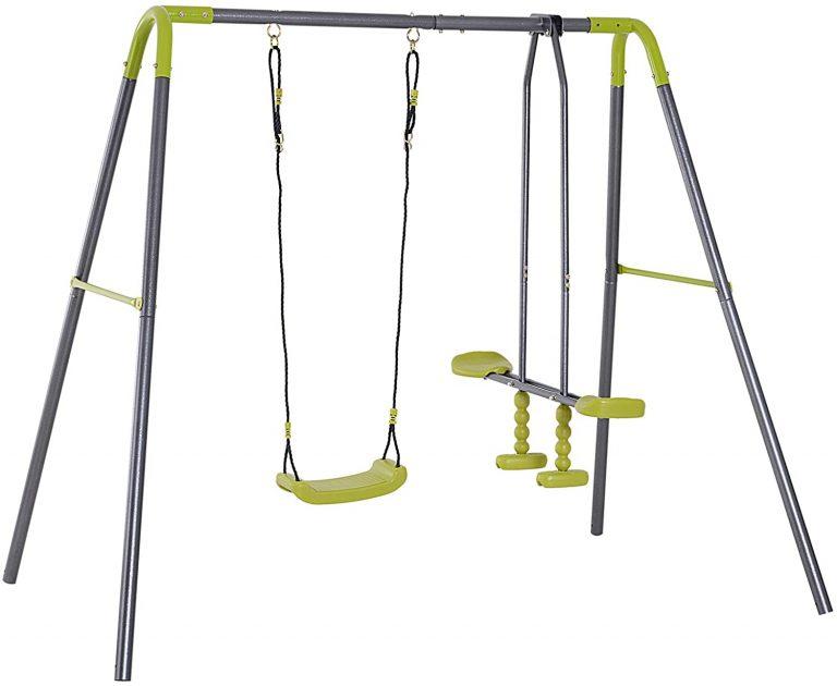 Set de Columpio Infantil al Aire Libre con Columpio y Planeador de balancín